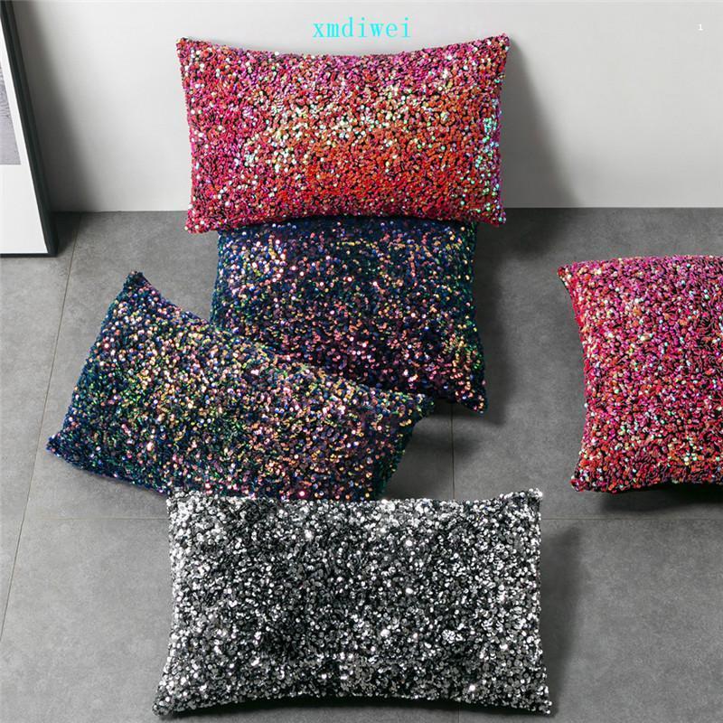 Magie Pailletten Pillowcase dunkle Farbe Boster Fall Bling Paillette Kissenbezug Weihnachtsgeschenke Kissenbezug New Arrive01