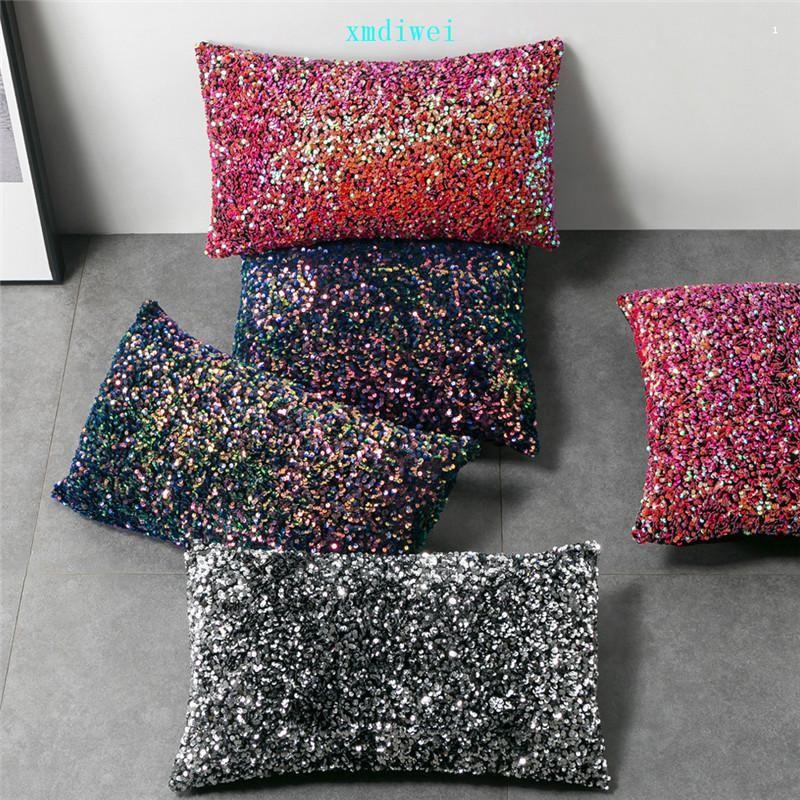 Magia Sequins Pillowcase escuro Cor Boster Caso Bling Paillette Coxim presentes Tampa Natal Pillow Case New Arrive01