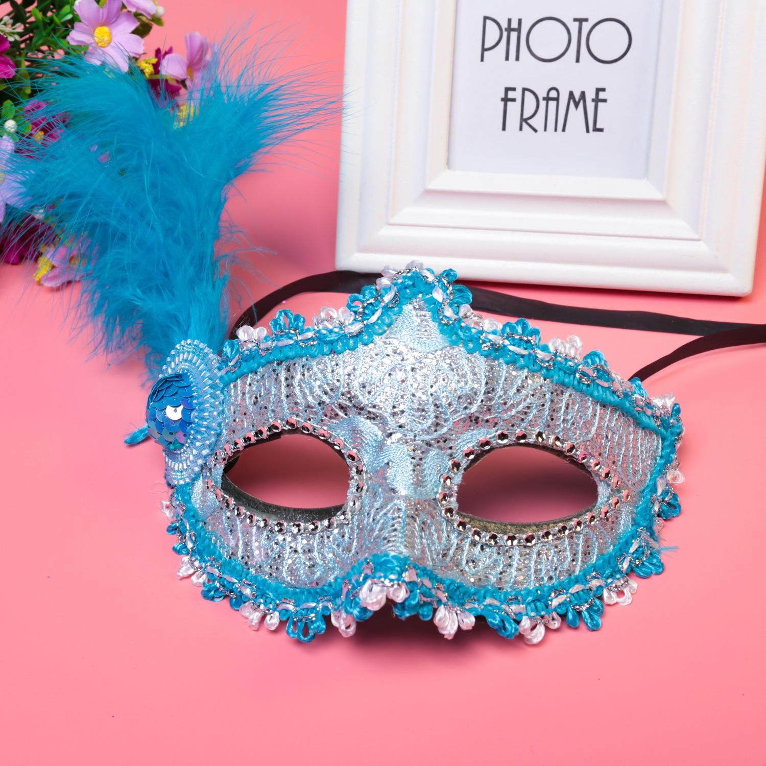 Halloween Masquerade Power Kniss Patch Coloured Drawing Or Pattern Princess Party Mask Mask