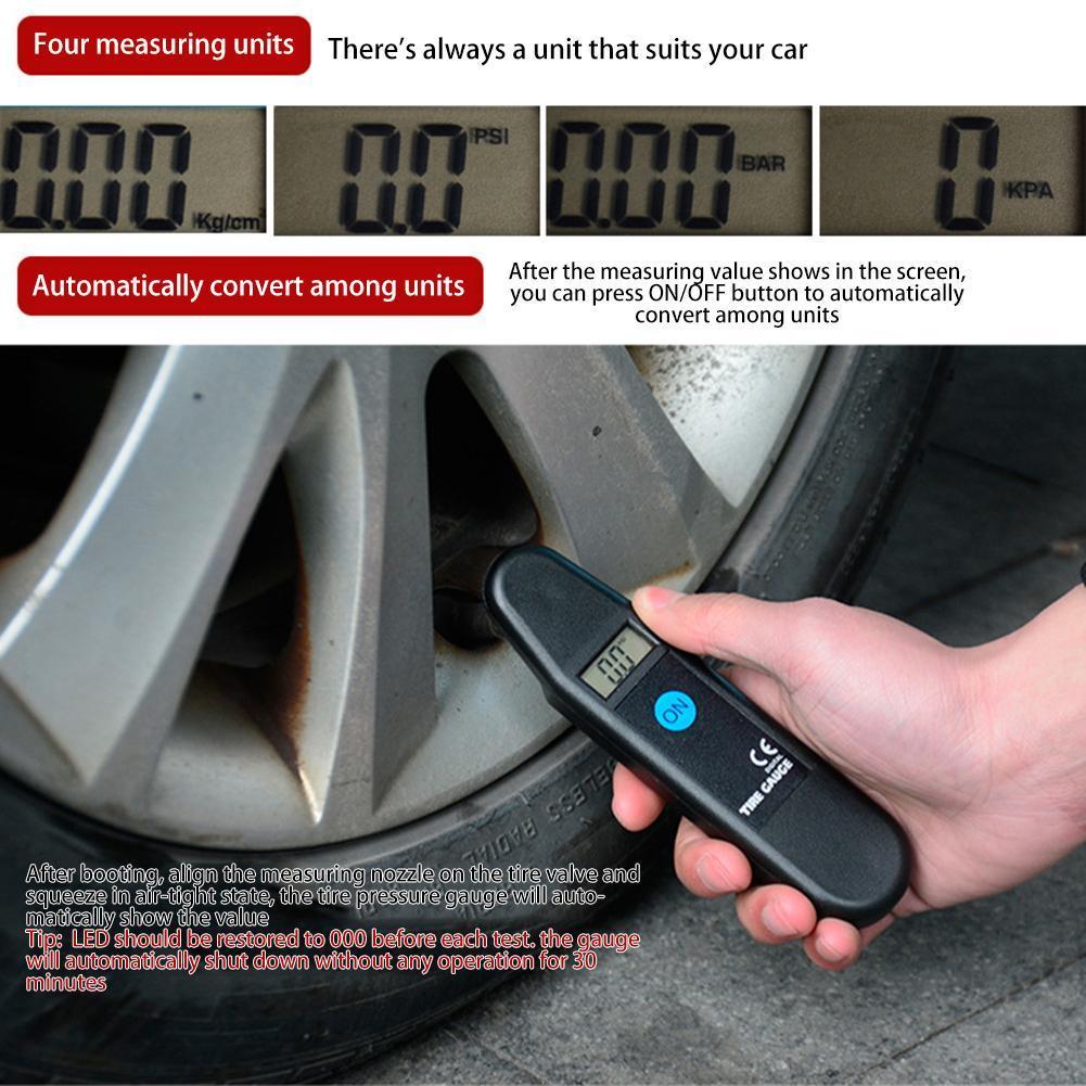 Herramienta de prueba de medidor de presión digital de neumático del coche Presión Sistema de Monitoreo