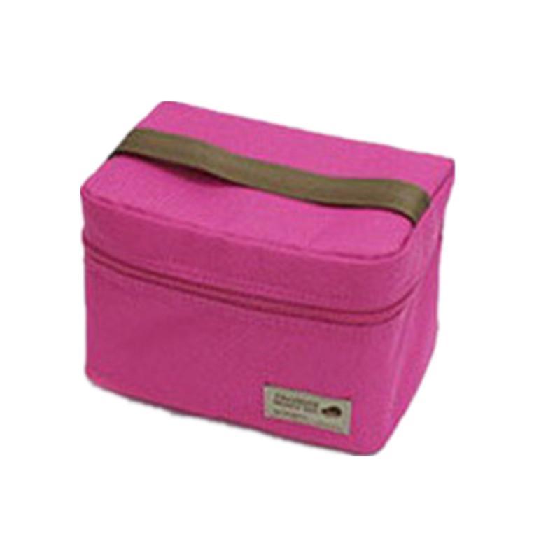 Casual impermeable Bento bolsa del bolso del almuerzo del envase térmico refrigerador aislado comedor de asas del viaje de picnic Bolsa de cremallera