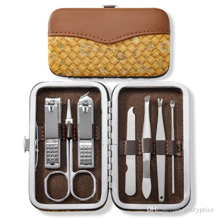 Кусачки для ногтей Kit Ножницы Пинцет нож уха выбрать Полезность Маникюрный набор из нержавеющей стали кусачки для ногтей Инструмент Уход Наборы 7pcs / Set LXL871Q