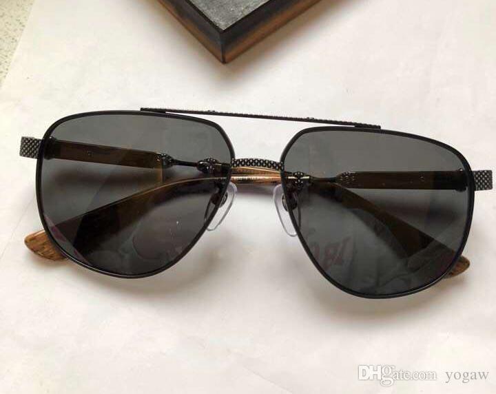 Caja de gafas Lente de 60 mm hombres UV Gafas de sol negras Plata con protección solar negro Protección Piloto Nuevo Hombres Cool OMMBR