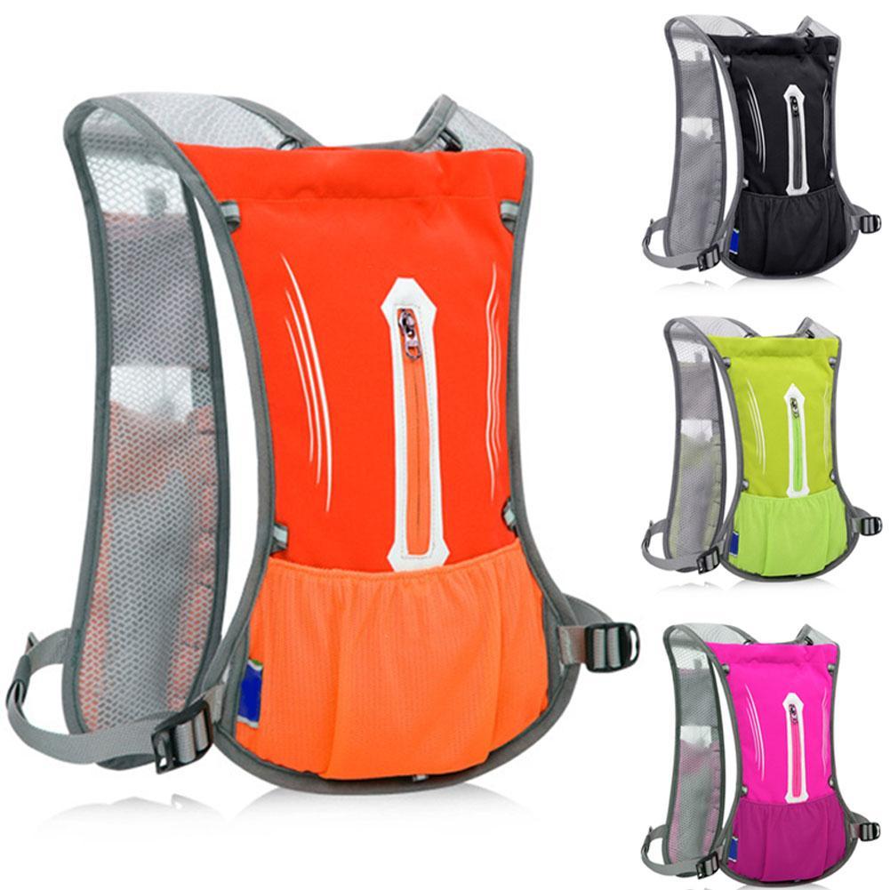 Verstellbare Männer Frauen Trinkultraleicht-Wasser-Beutel Reflektor-Streifen atmungsaktive wasserdichten Lauf Rucksack Sportflaschenhalter