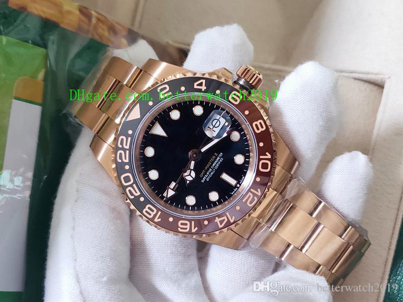 BP 공장 새로운 품질 럭셔리 남성 시계 40mm GMT 126715 126711 126715CHNR 126711CHNR 세라믹 스위스 ETA 2813 무브먼트 자동