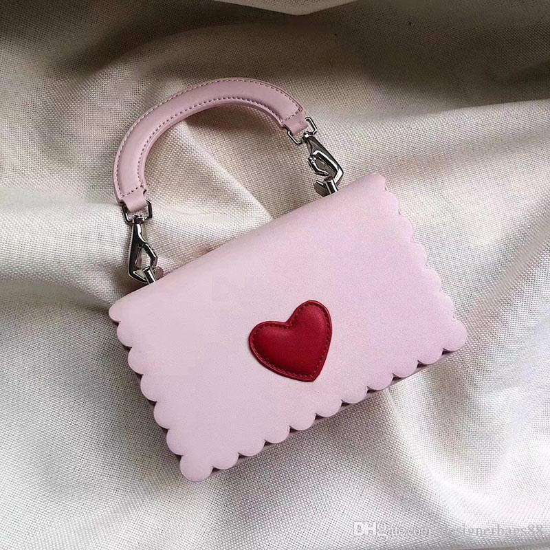 Высочайшее качество Love Heart Pattern Известная марка сумки для девочек Desinger Сумочка Мода Верхняя ручка сумка из телячьей кожи Кожаный клатч кошелек сумка