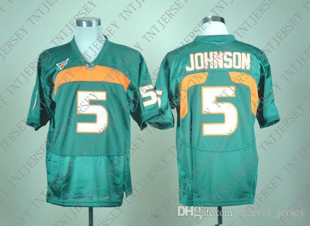 barato costume NOVO Miami Hurricanes Reggie Wayne # 87 Green College Football Jersey costurado Personalizar qualquer nome número HOMENS MULHERES JOVENS XS-5XL