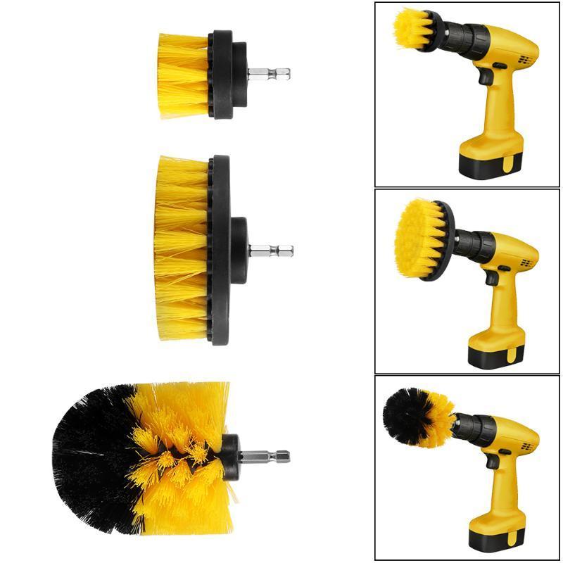 3pcs Leistung Scrubber-Pinsel-Set für Badezimmer Drill Scrubber-Bürste für die Reinigung der Akku-Bohrschrauber Befestigung Kit Strom Scrub