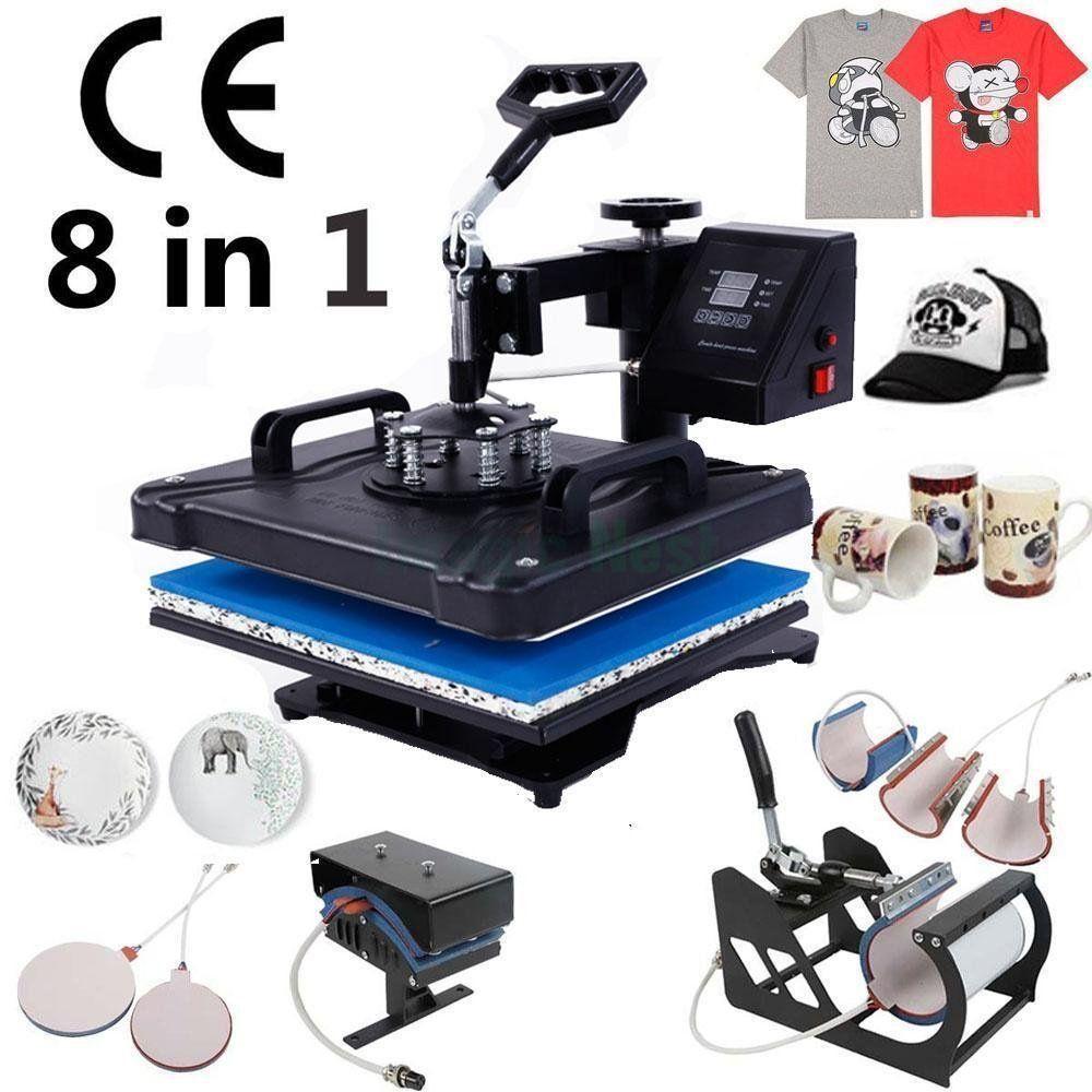 الجديد في التسامي كومبو القدح كاب قميص 8 في 1 الطباعة الحرارة الصحافة آلة الساخن آلة الطباعة