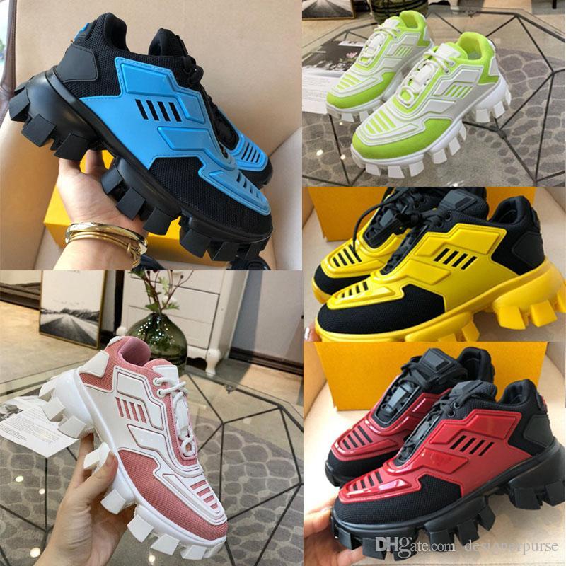 2019 المرأة الاحذية أحذية Cloudbust الرعد الدانتيل يصل أحذية رياضية 19FW كبسولة سلسلة اللون مطابقة منصة الرجال أحذية رياضية فاخرة
