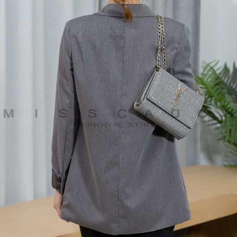 PmmFh Nuovo coatsweet moda personalizzata piccolo cappotto stile cucitura coreano casuali dimagriscono giacca vestito di piccola