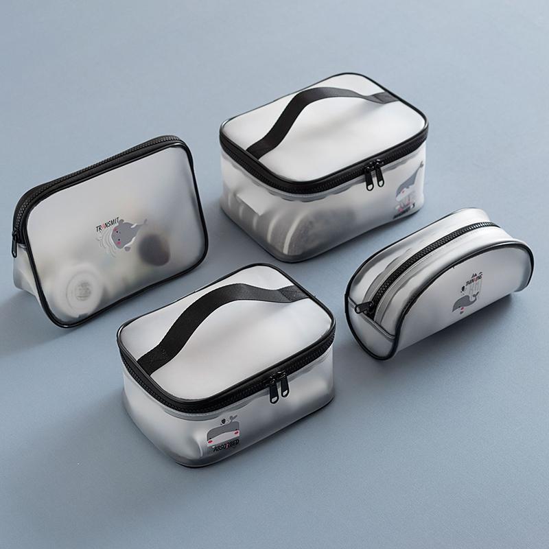 Impermeable transparente maquillaje cosmético del bolso mujeres del bolso del organizador del recorrido de tocador Kit de casos de Necessaries Maquillaje de lavado de tocador Bolsas