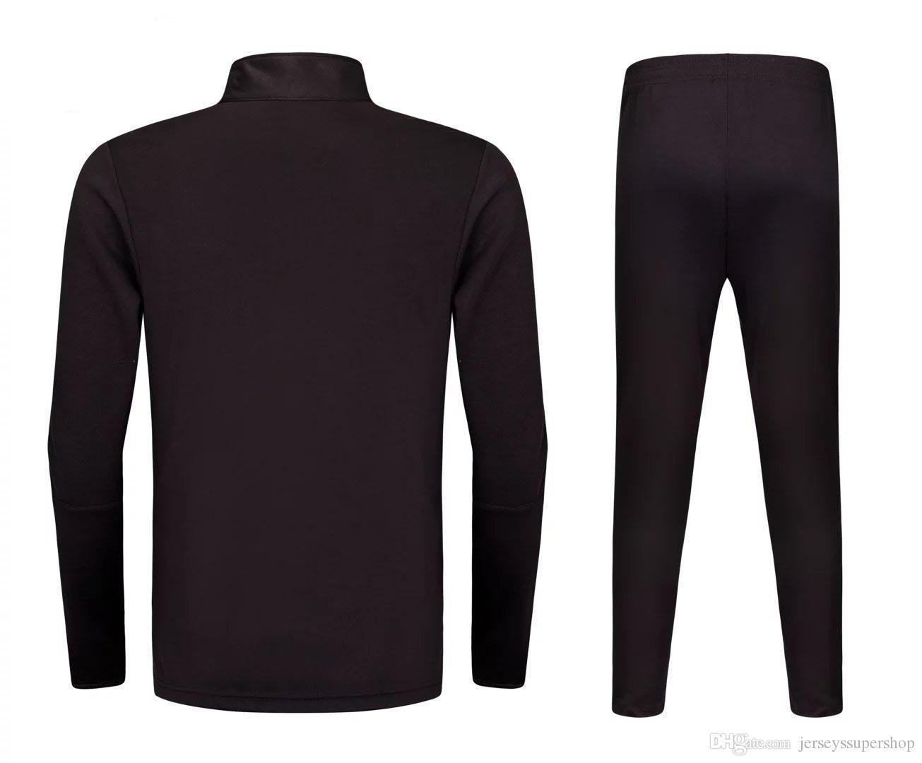 XL 2019 2020 Siyah En Son Erkekler Futbol Formalar Sıcak Satış Kapalı Tekstil Futbol Giyim Yüksek Kaliteli JUV