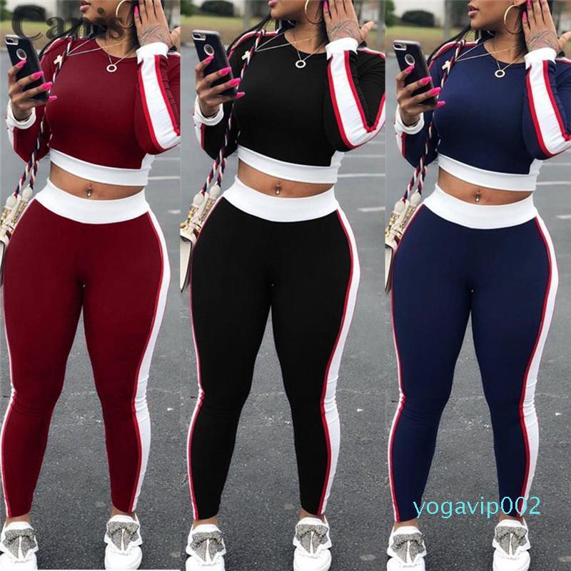 Sexy Women Sports Set Yoga Sleeve Crop Top Pants Outfit Yoga Workout Gym Fitness Athletic Workout Clothes Tracksuit