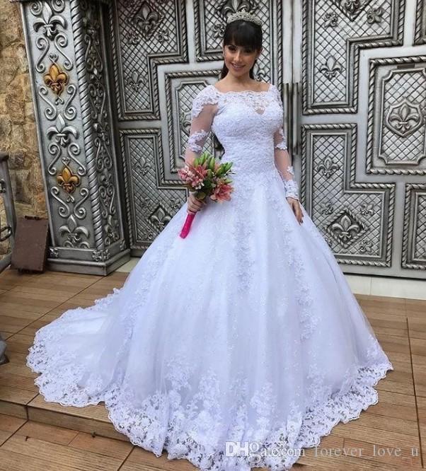 Günstige Qualität Handgefertigte ALine Braut Hochzeit Pakistanische Lacha Kleid Kleid Union Fashion Vintage Langarm Vestido De Novia Hochzeitskleid
