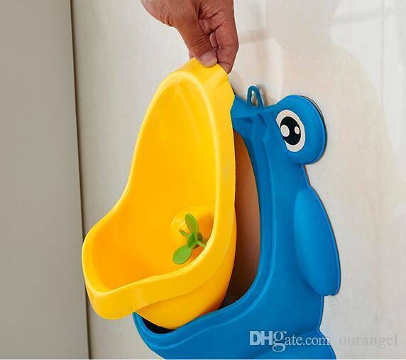 Montado en la pared bebé de los niños para ir al baño WC entrenamient Urinario Boy plástico del asiento de tocador de alta calidad de cuidado del bebé Groove Niños Producto WC