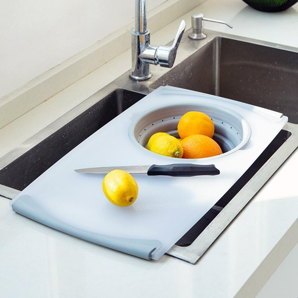مبتكرة متعددة الوظائف 3 في 1 تقطيع المجلس للفصل طي استنزاف سلة بالوعة أدوات القطع مجلس مطبخ