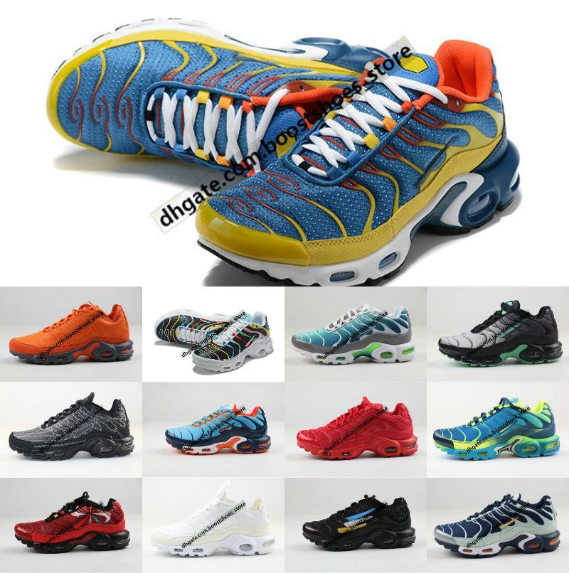 2020 Wholesale New Original Tn Shoes New Designs Fashion Men Breathable Mesh Tn Plus Chaussures Requin Sports Trainers Shoes