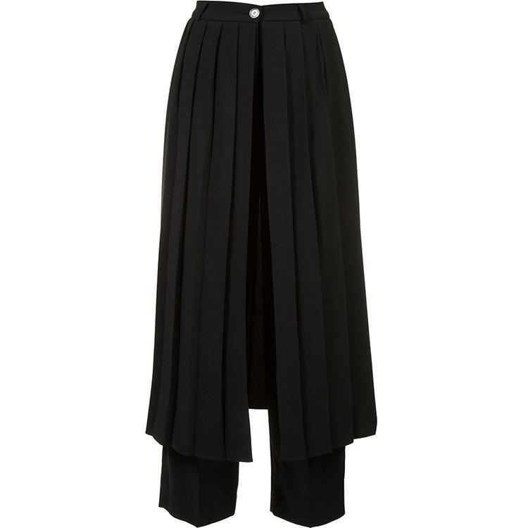 27-46 2020 nouveaux vêtements pour femmes hommes Coiffeuse de mode Scène costume Splice plier pantalon décontracté costumes de grandes tailles