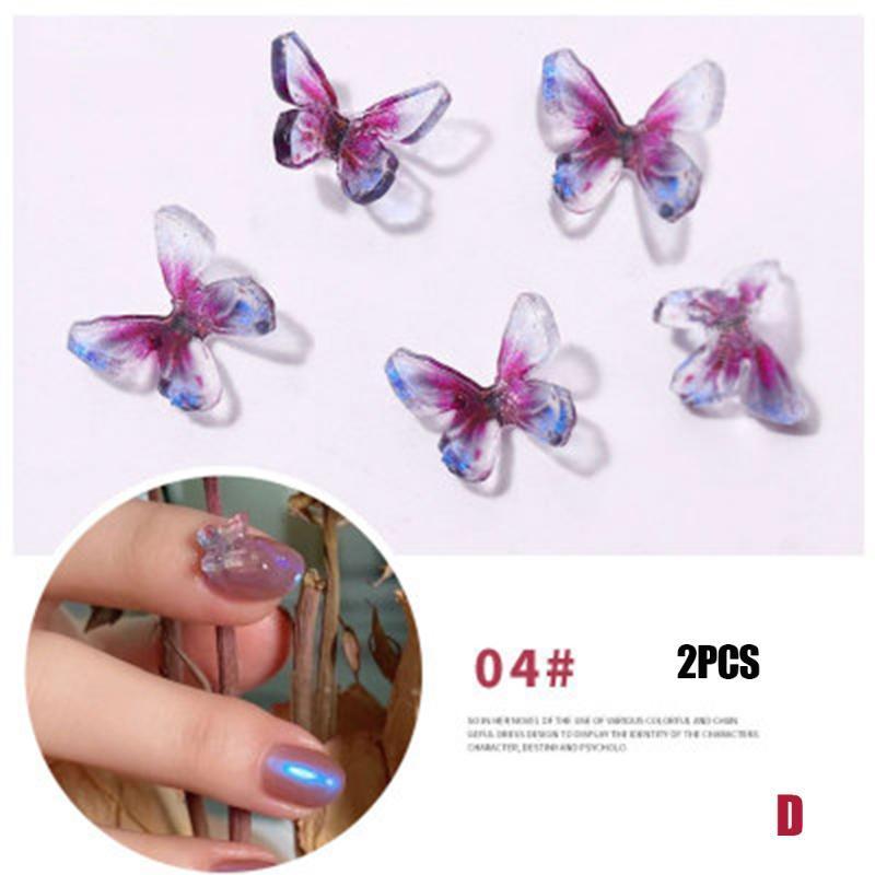 Nuovo Hot 2 del chiodo di PCS 3D art butterfly autoadesivi Glitters manicure arte Strumenti Decoration SMR88