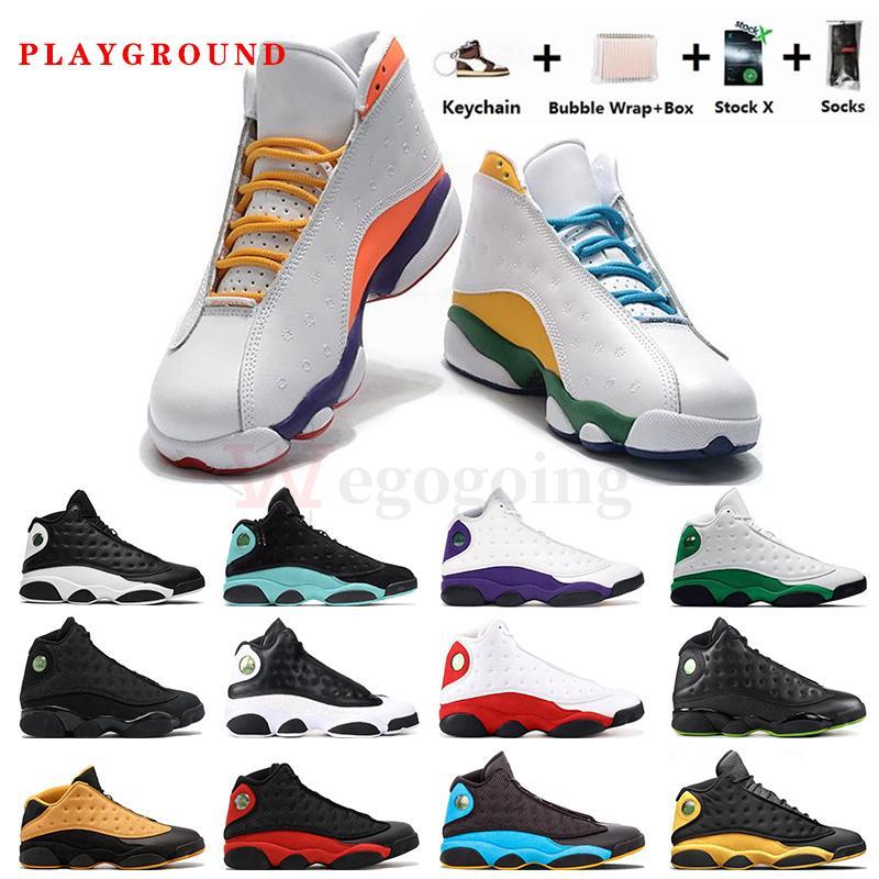 Nuovo con scatola jumpman 13s giochi CNY scarpe da basket degli uomini 13 cappello e abito REVERSE He got game Fint mens formatori Sneakers Sport