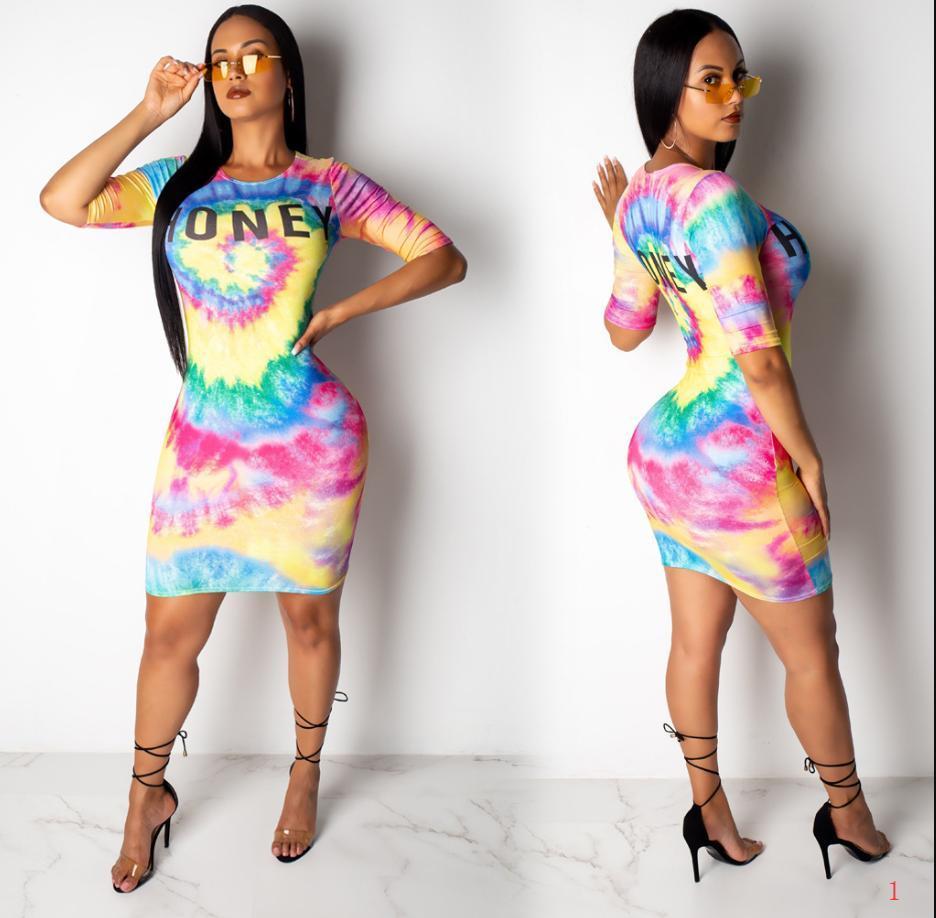 20s Frauen kleidet Mode-Sommer-neue Art-Qualitäts-Kleider ONE Print Weiseluxuxfrauen Designer Kleider Frauen Luxuxentwerfer Sommer