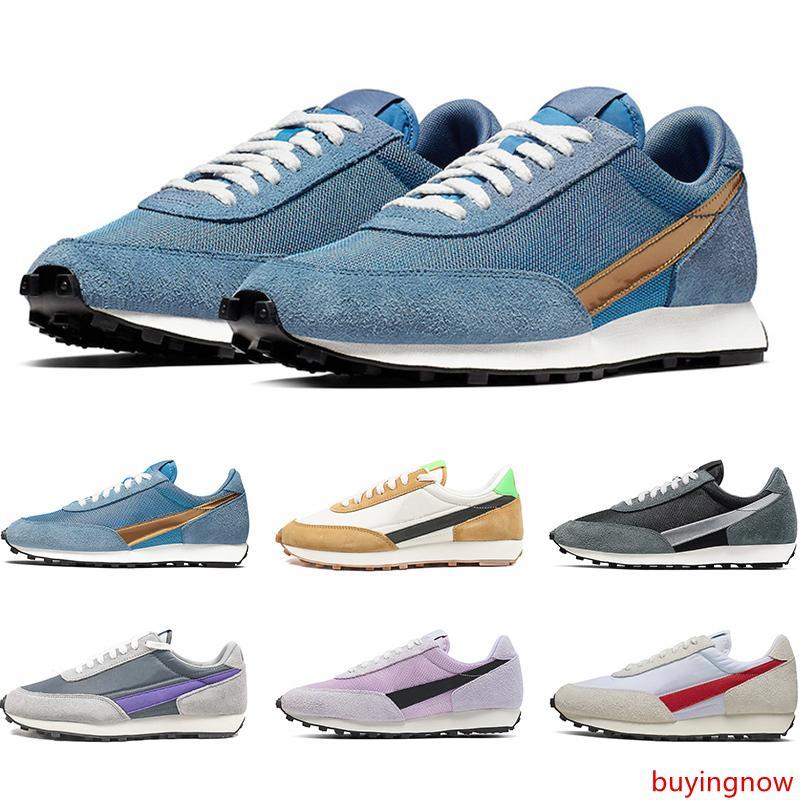 Date gaufre Daybreak SP plate-forme Sneakers Hommes Femmes Casual Chaussures Métallique Argent Or Bleu Rose Hommes Formateurs Sport Taille 36-45