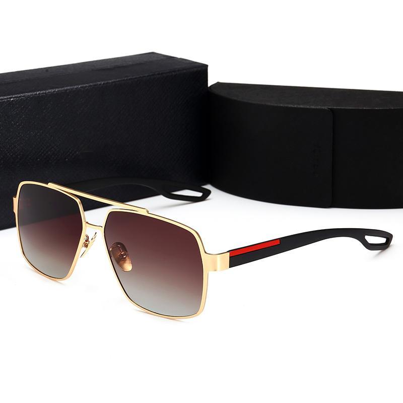 Qualitäts-Marken-Designer Sonnegläser Goldrahmen Spiegel Sonnenbrille Huas Mode für Frauen Sonnenbrille UV-Männer Sonnenbrille Pilot