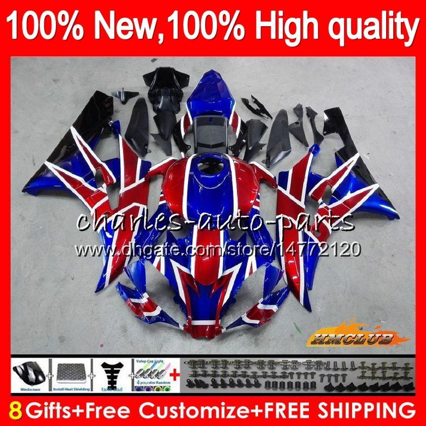 Corpo da Yamaha YZF600 YZF R6 YZFR6 2008 2016 68HC.21 azul YZF encarnado 600 R6 CC 600CC YZF600 YZFR6 08 09 10 11 12 13 14 15 16 carenagens