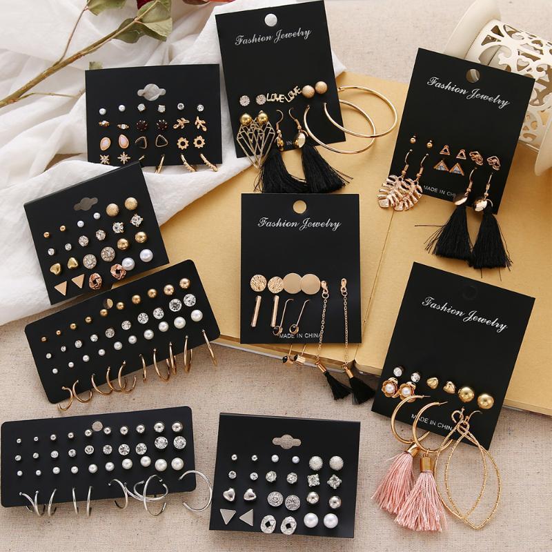Parentes boho brincos de pérola Studs das mulheres para as mulheres geométrica brinco franja brincos de ouro jóias da moda 2020 brinco