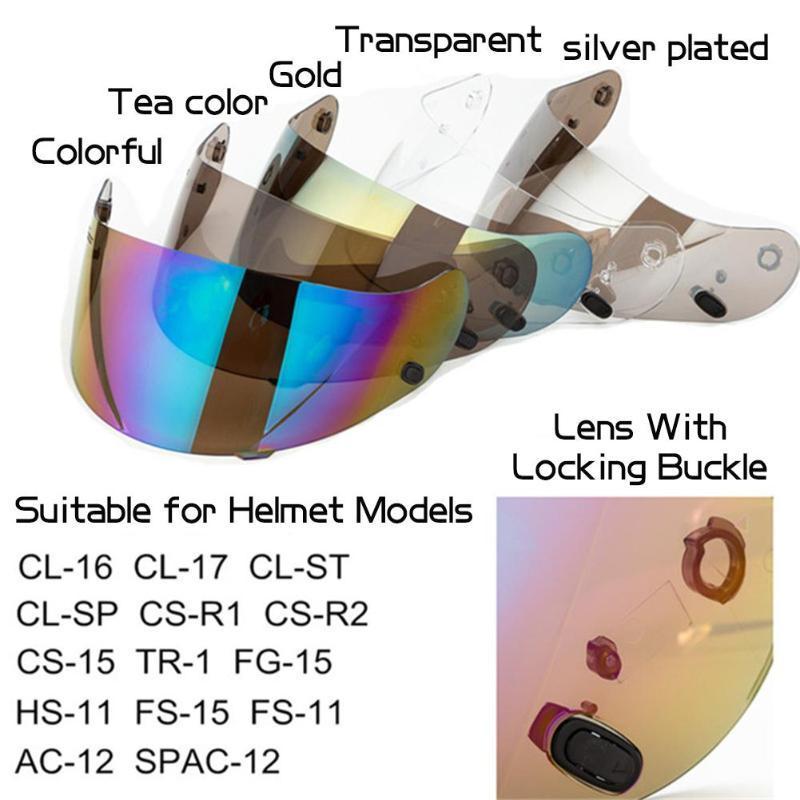 Motosiklet Kaskı Lens siperliği Motor Cross Kask Visor Koruyucu Cam On İçin YYK CL-1617CS-R1R R CS-15TR-1FG-15HS-11CL-SP