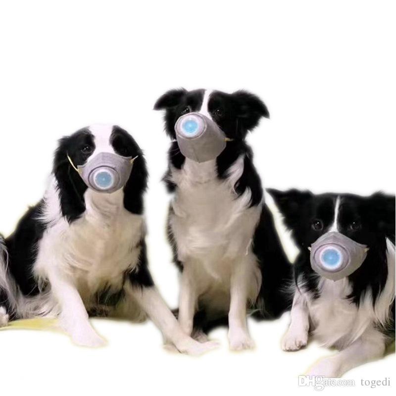 Segurança Não-tecidos Pet Fornecedores filtro respirador cobrir a boca Máscara PM 2,5 Little Dog Big Pet ajustável respiração Dustproof Máscara Válvula DHL grátis