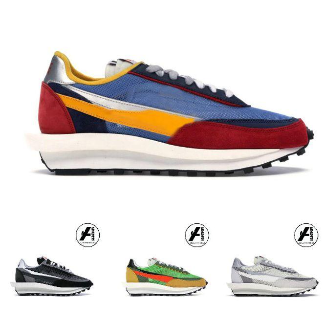 LDV Waffle run shoes for men women black white grey pine Green Gusto Varsity Blue mens trainers fashion sports sneakers