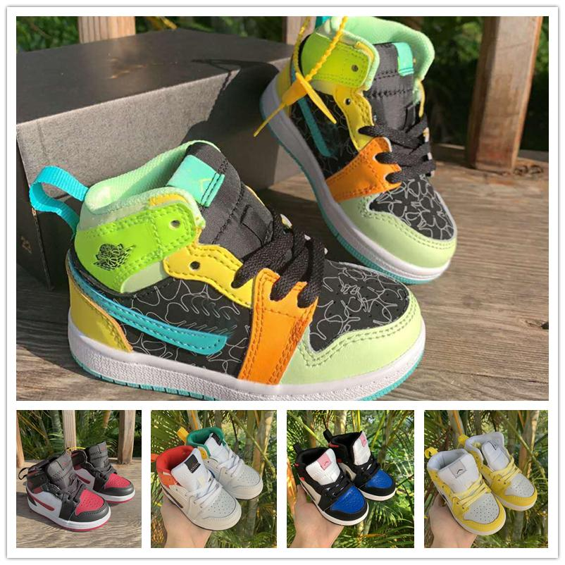 Kids Cheap JD 1s Color Yellow And White
