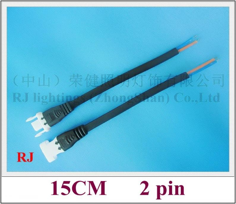 new style general connector wire cable male and female for LED lightings high voltage and low voltage ( 5V-300V ) 15CM 2 pin new design 2019