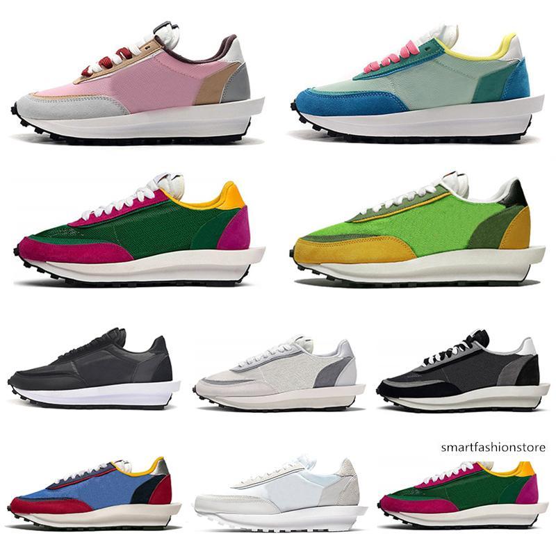 koşu ayakkabıları 2020 ucuz sacai ldv ld gözleme erkekler kadınlar Siyah Beyaz Gri Çam Yeşil Gusto Varsity Mavi erkek eğitmenler spor ayakkabı 36-45
