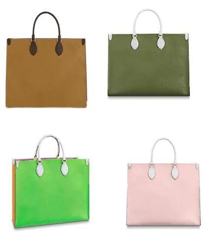 أعلى 41x34x19 جديد حقائب جلدية ONTHEGO التسوق مركب حمل حقيبة حقائب الكتف قماش المرأة حقائب جلد البقر حقيبة ركاب حمل حقيبة M44569