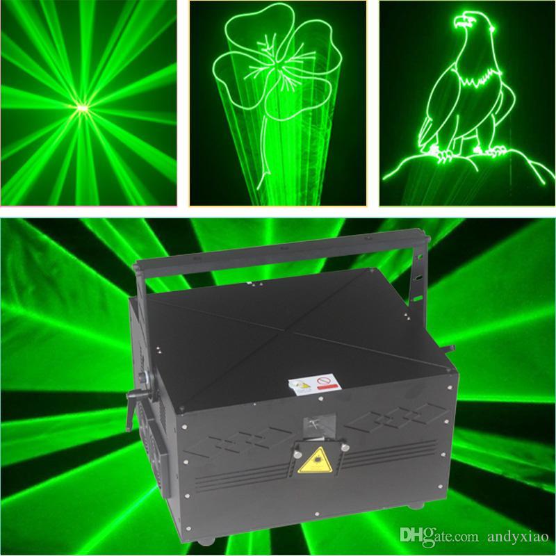 شحن مجاني إضاءة DMX DJ حزب ديسكو ليزر أخضر المرحلة المزدوجة طرفة نجوم ILDA ليزر ضوئي