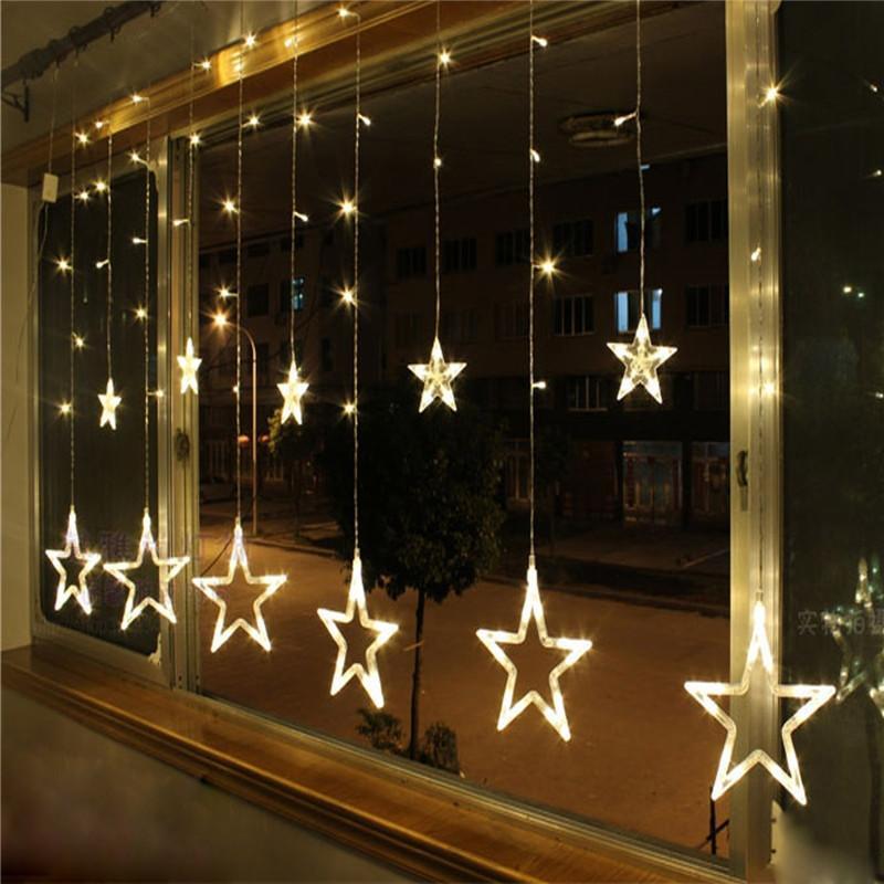 زينة عيد الميلاد للأضواء المنزل في الهواء الطلق سلسلة الدافئة الأبيض أدينوس نافيداد ناتال decoracion كيرست 12 مصباح