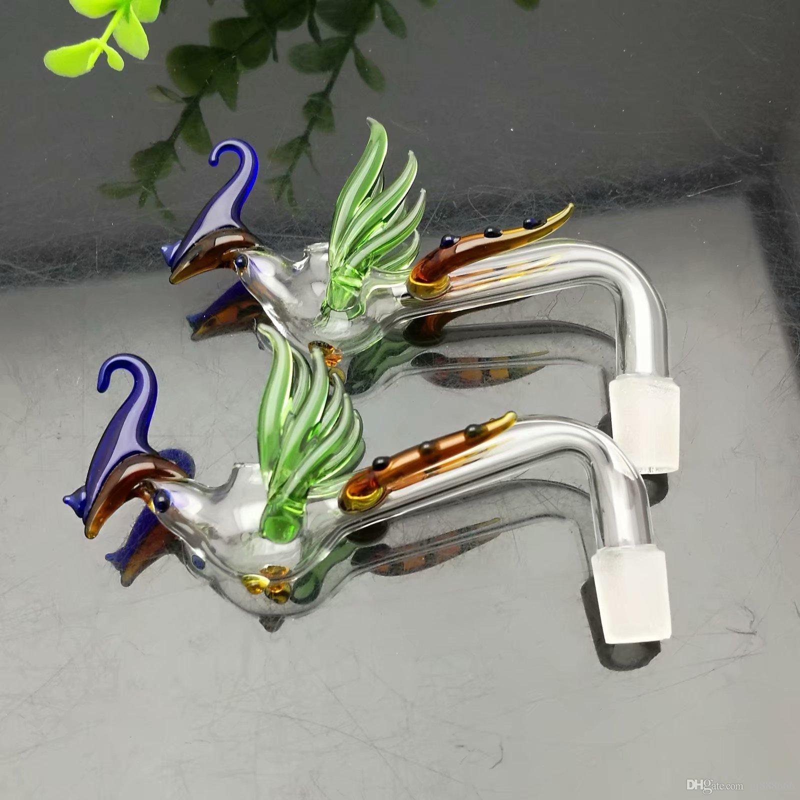 Clásico Phoenix coloreada de cristal ardiente crisol de cristal Bongs quemador de aceite Tubos Tubos de agua plataformas petrolíferas fumadores envío