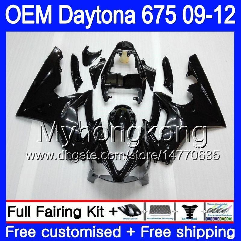 حقن للحصول على Triumph Daytona 675 09 10 11 12 Bodywork 323HM.22 Daytona-675 Daytona675 Daytona 675 ALL Gloss blk 2009 2010 2011 2012 Fairing