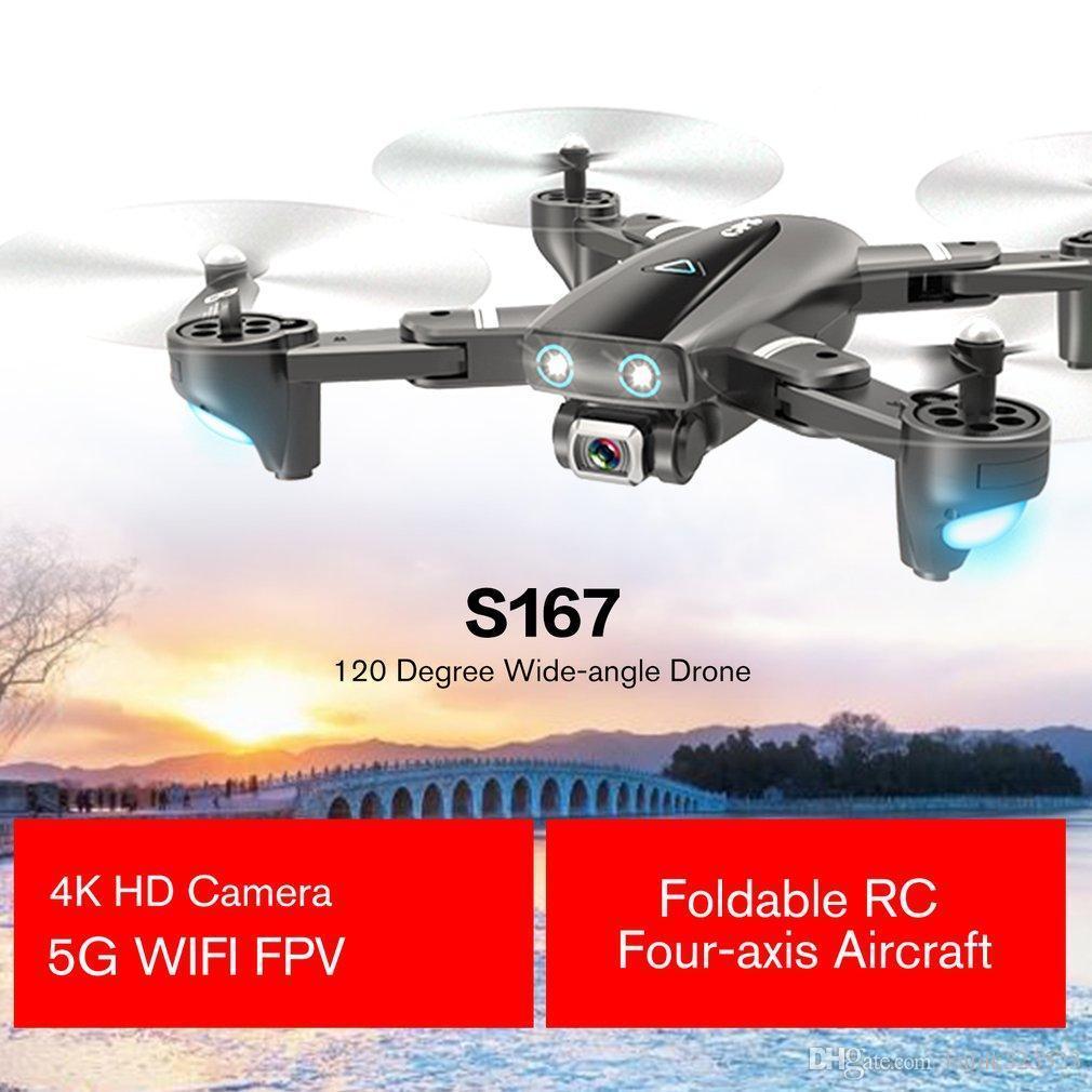 S167 5G واي فاي FPV RC الطائرة بدون طيار مع 4K HD كاميرا زاوية واسعة الطائرة بدون طيار GPS لتحديد المواقع الطائرة بدون طيار طوي RC أربعة محاور الطائرات
