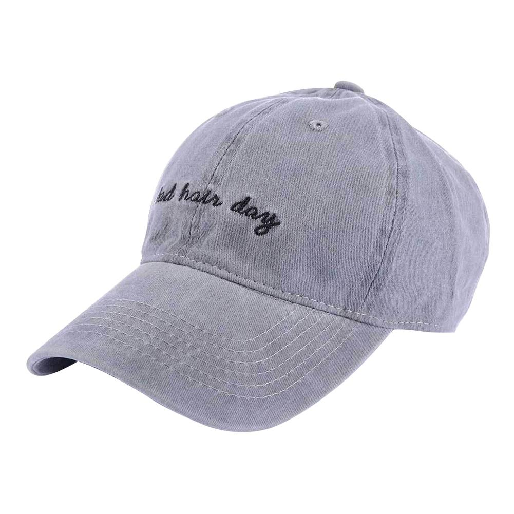 Women Men Baseball Hat Casual Summer Gift Fashion English Letters Bad Hair Day Wide Brim Snapback Embroidery Adjustable Portable