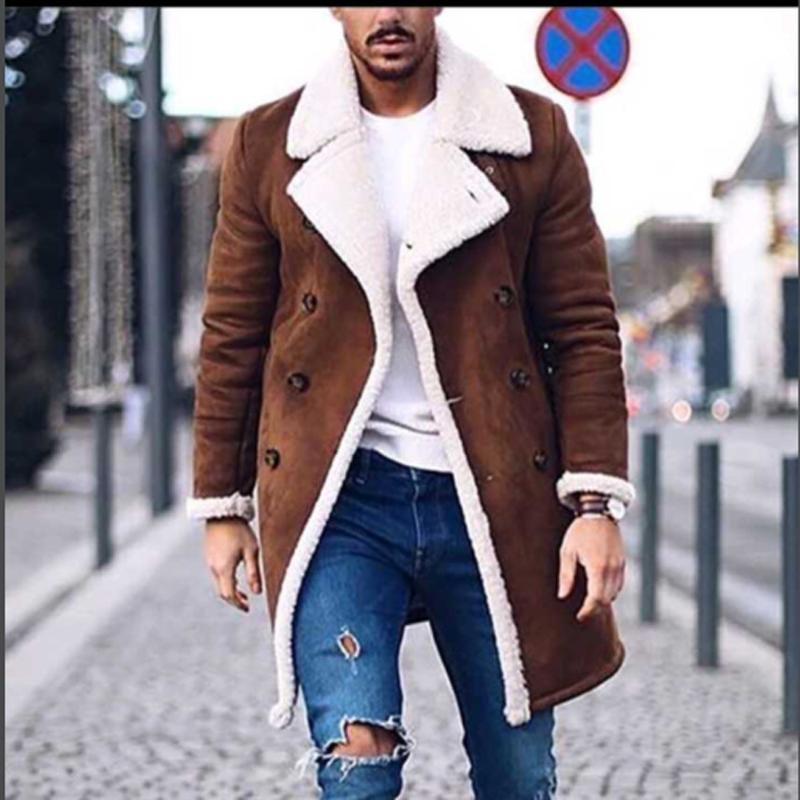 Мужская шерстяная смесь 2021 зимнее пальто Мужчины Досуг длинные секции Шерстяные пальто Чистый цвет Повседневная мода Куртки