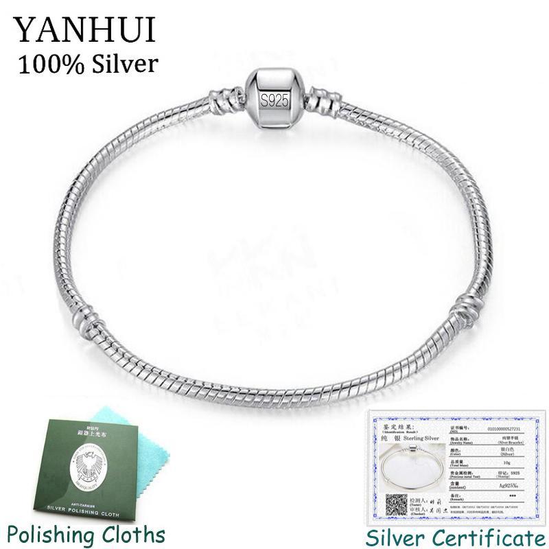 Certificado enviado grátis! 925 Pulseiras de Prata Sólida Charme Para As Mulheres Longo 16-23 cm de Largura 3mm de Cobra Osso Pulseiras Jóias Finas Sl005 MX190719