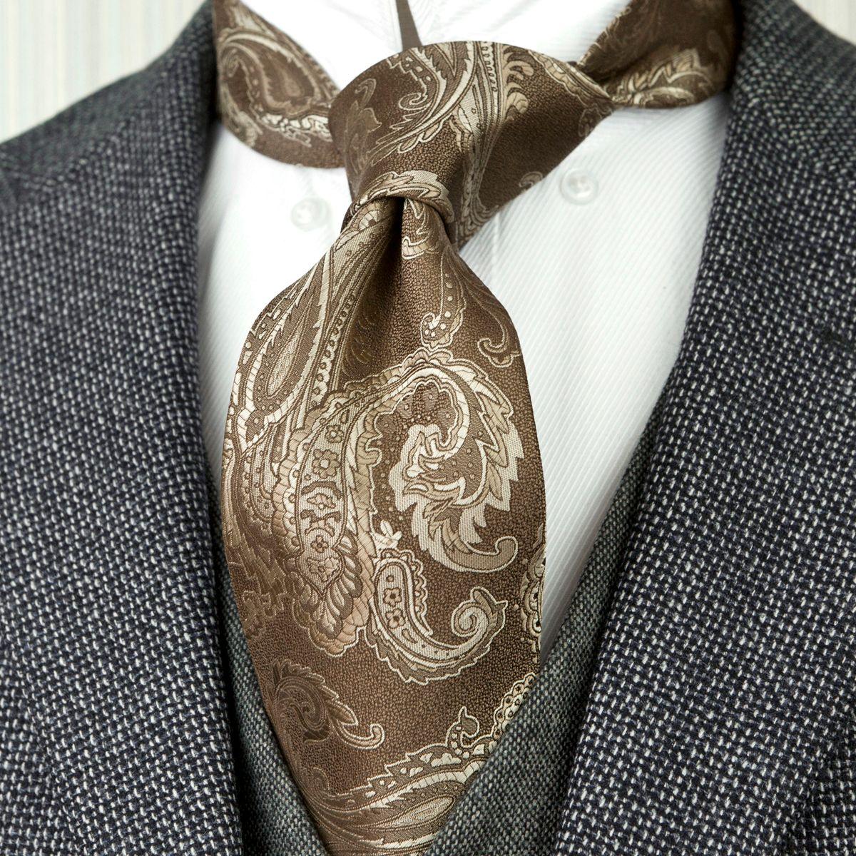 Оптовая F3 Paisley Коричневый Карамель Camel Мужские Галстуки Галстуки 100% Silk Jacquard Woven Новая бесплатная доставка моды костюм подарков для мужчин Повседневный