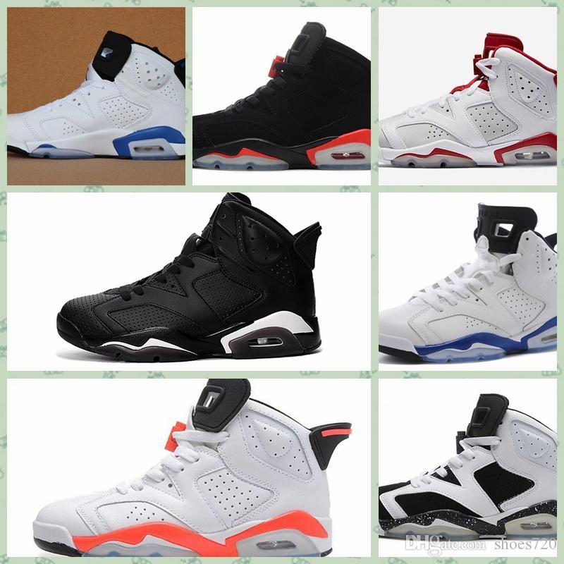 Nike Air Jordan Original AJ AJ6 cher enfant en bas âge Enfants Uptempo Chaussures de plein air pour enfants de qualité supérieure Garçons Filles Rétro Designer Chaussures Enfant