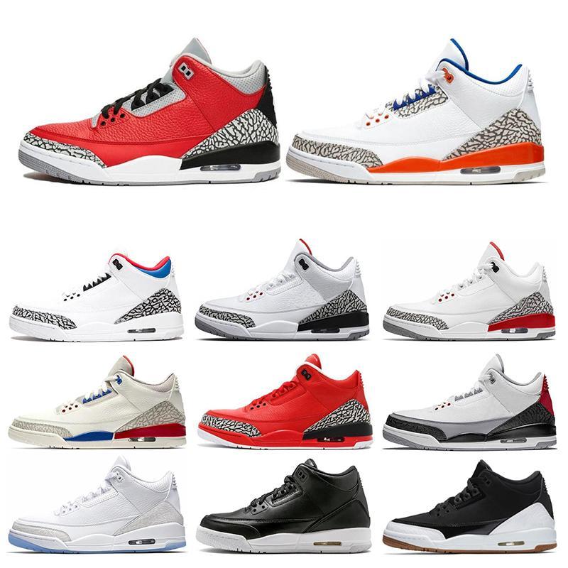 Gli uomini caldi di vendita scarpe da basket Knicks UNC rivali Tinker con università Rosso Nero Cemento Katrina Sport Sneakers Mens Formatori Size 7-13