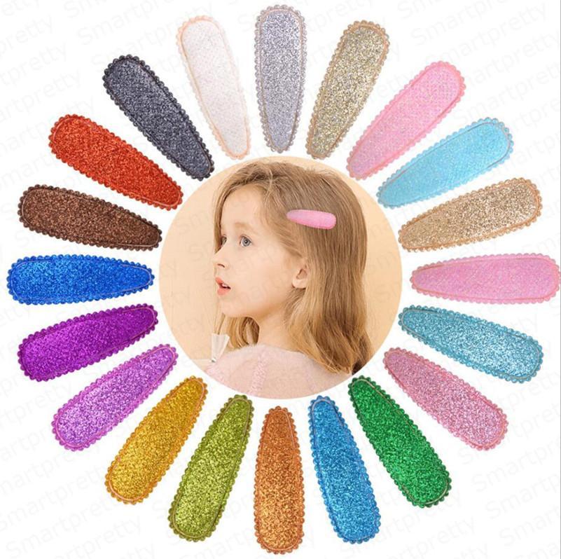 Lentejuelas niñas Barrettes coloridos lindos clips de resorte de la horquilla del arco iris del brillo del pelo de los niños Los niños Bangs Hairclip niños Accesorios para el cabello barato E4909
