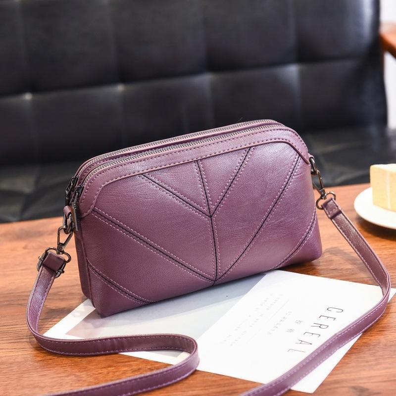 Новая женская сумка корейская мода вышитая кисточкой маленькая квадратная сумка чистый цвет двойной мешок посыльного